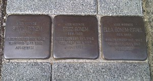 Stolpersteinewandeling / Walk of Peace